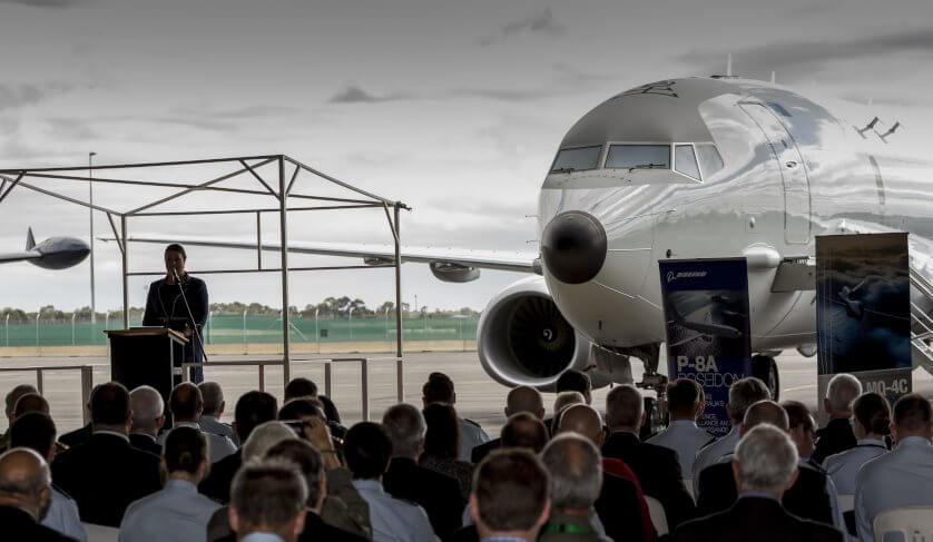First Australian P-8A Poseidon settles in at RAAF Base Edinburgh