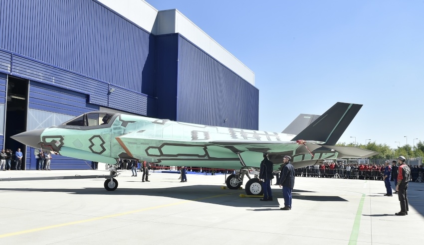 First European assembled F-35B rolled out