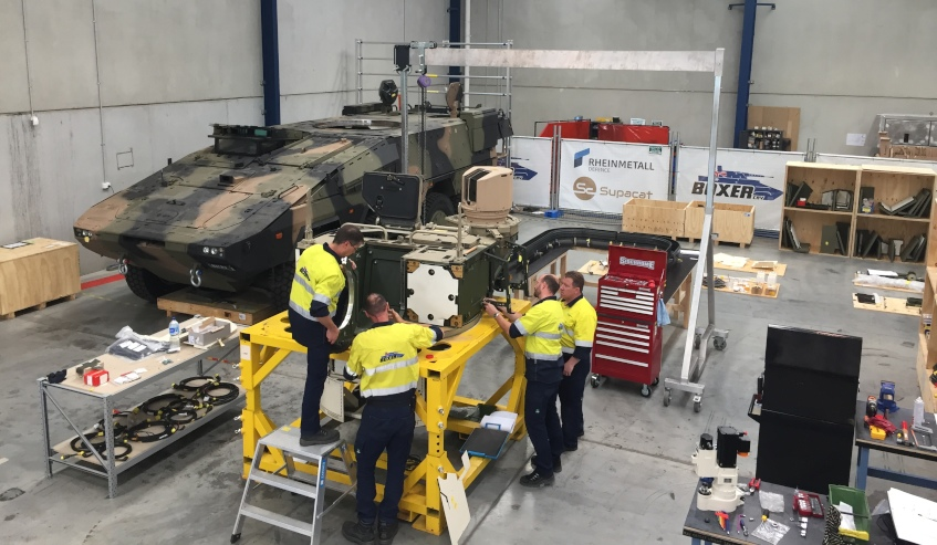 Victorian companies test LAND 400 turret