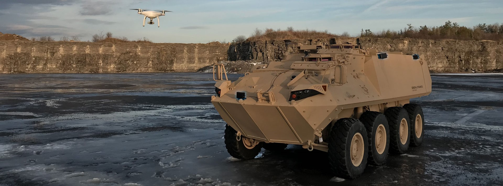 gdls lav with mydefence counter uas sensors
