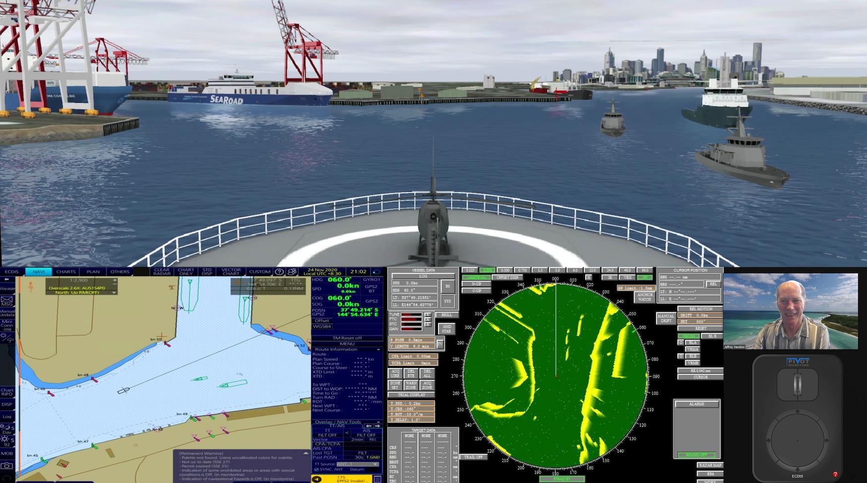 Pivot Maritime International's new streaming simulation and navigation technology