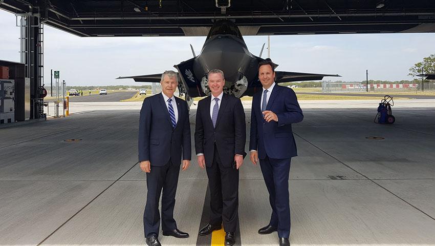 Pyne-Fawcett-and-Ciobo-F-35-Arrival.jpg