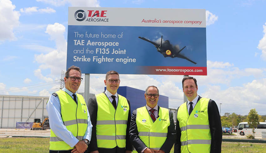 tae f   engine facility ground breaking ceremony