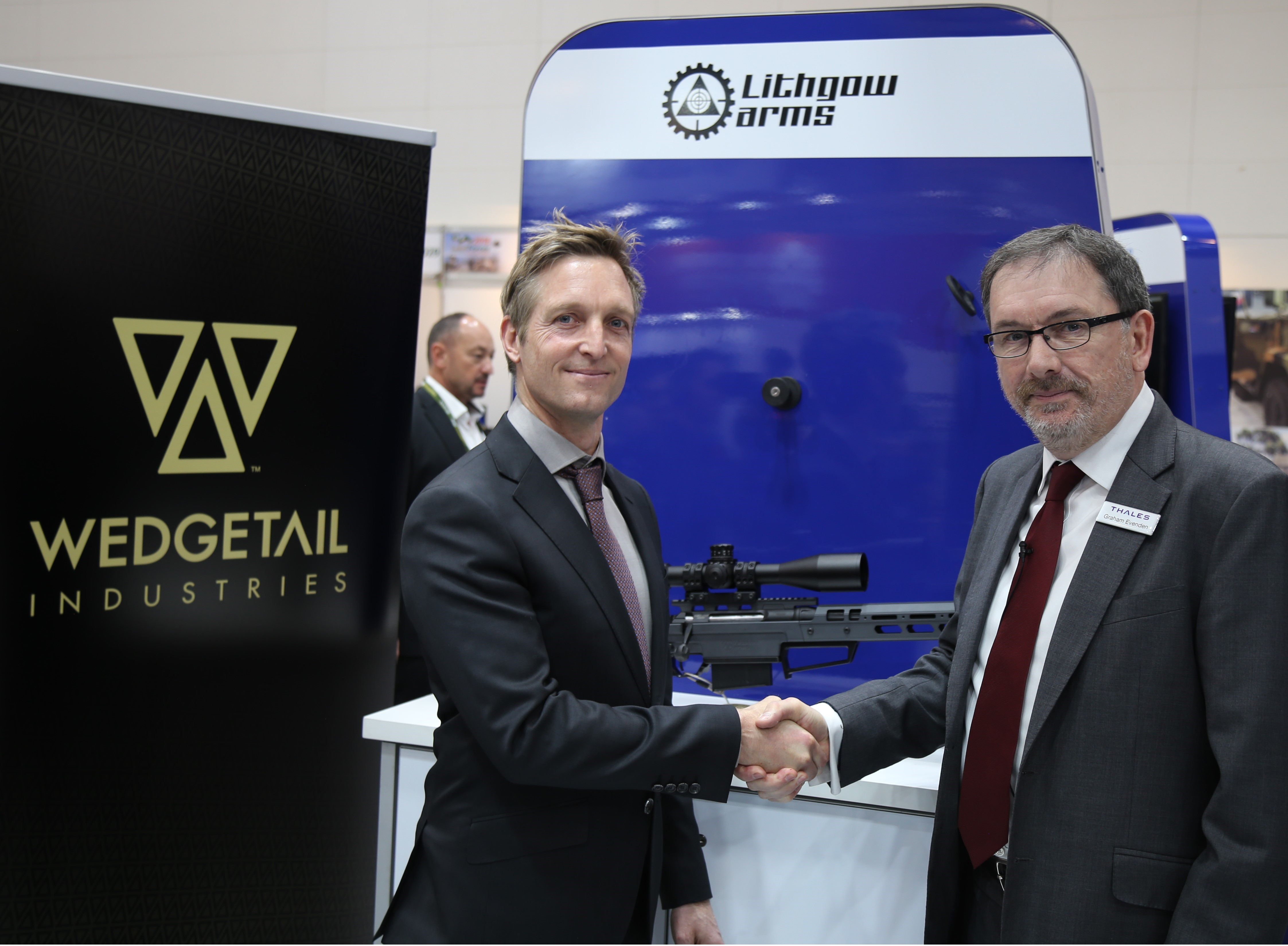 alexander knott director wedgetail industries and graham evenden director of thales australias integrated weapons and sensors