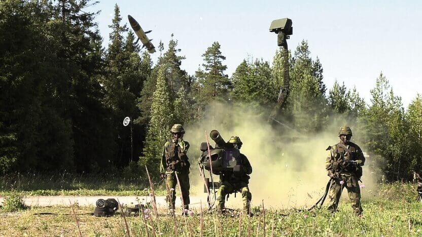 RBS 70 and Giraffe AMB by Saab AB. Image by Thomas Dahlqvist, MMP Productions