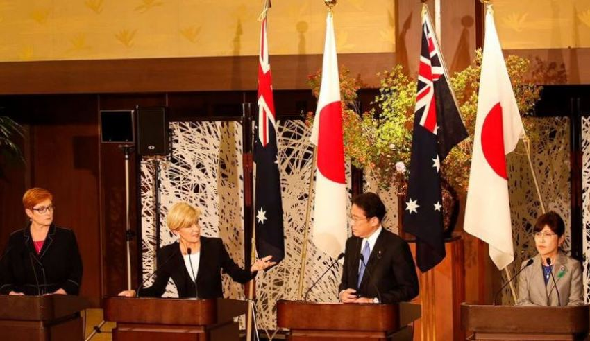Australian and Japan meet amid global defence tensions