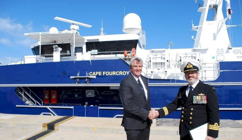 first cape class patrol boat officially joins navy