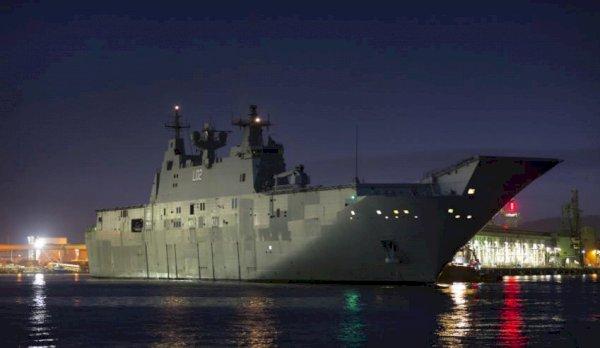 HMAS Canberra completes transport trials for landing craft - Defence