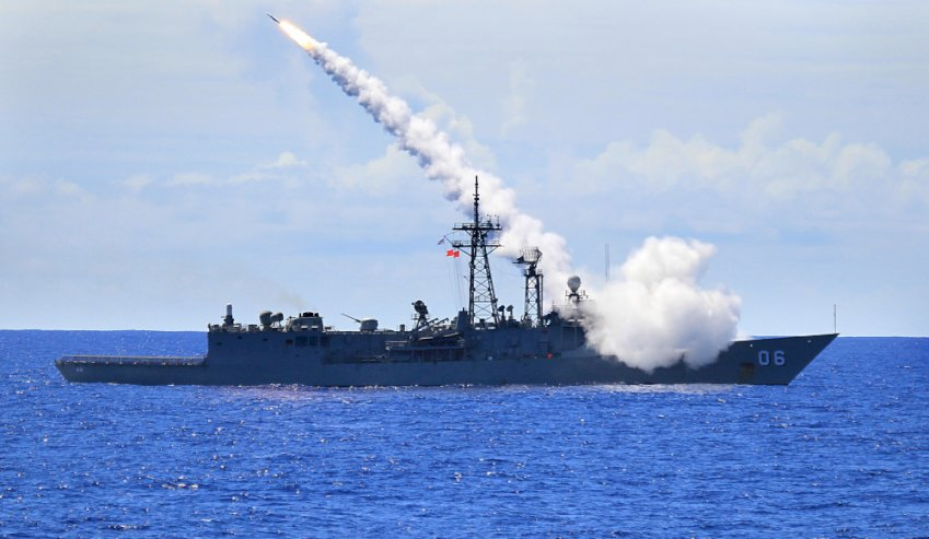 hmas newcastle fires missile