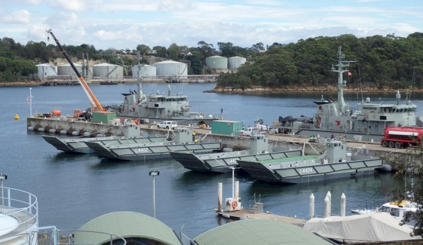landing craft at hmas waterhen