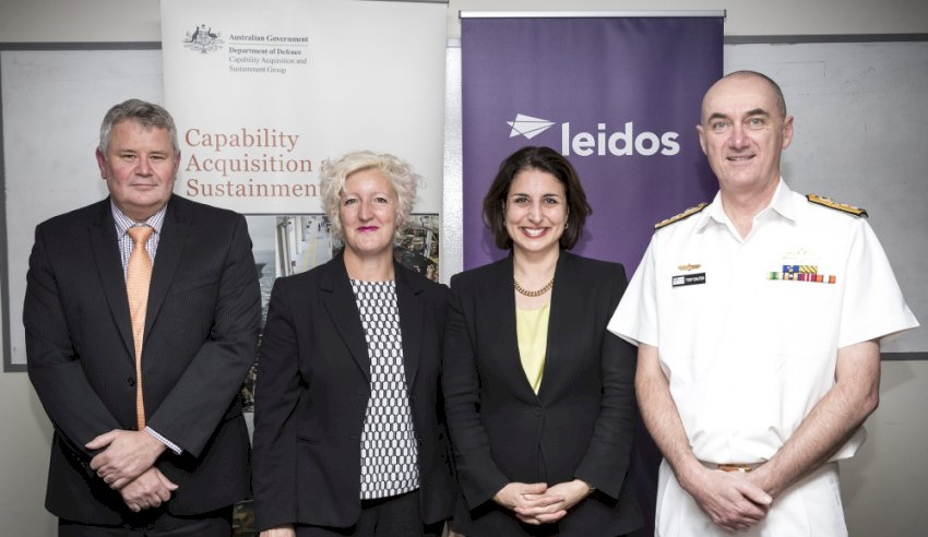 leidos sustainment contract signing