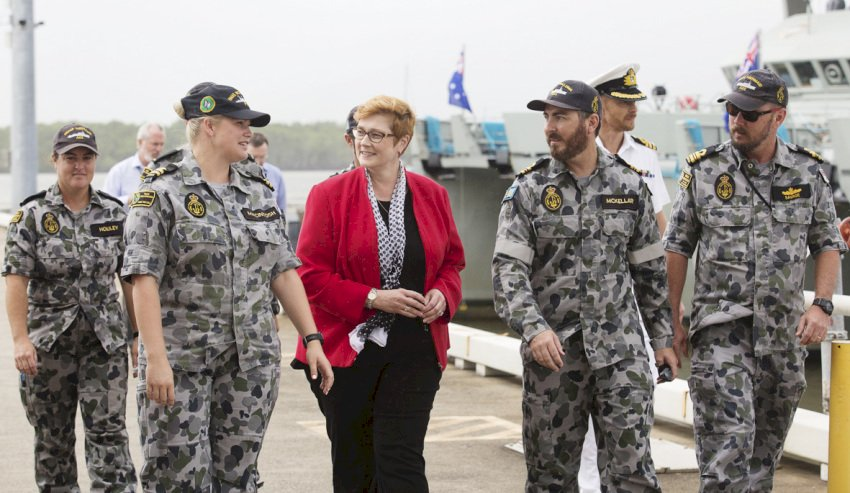 marise payne in cairns