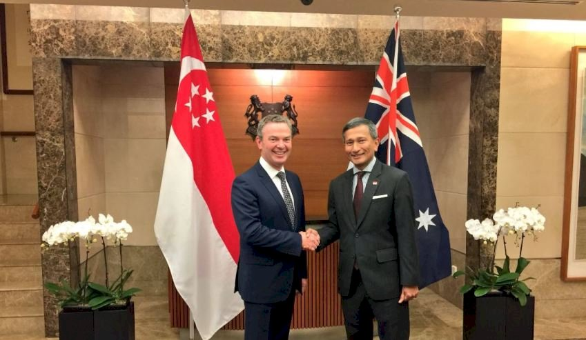 minister pyne and singapores foreign minister