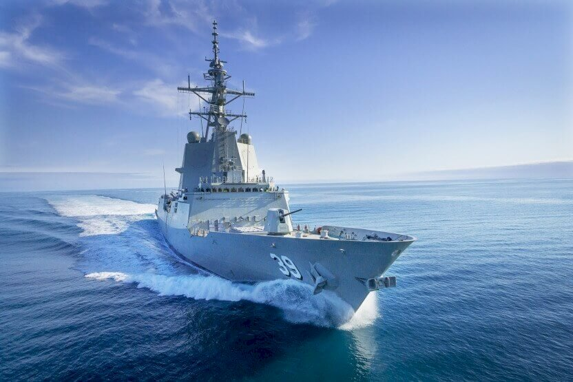 first destroyer hobart successfully completes builder sea trials