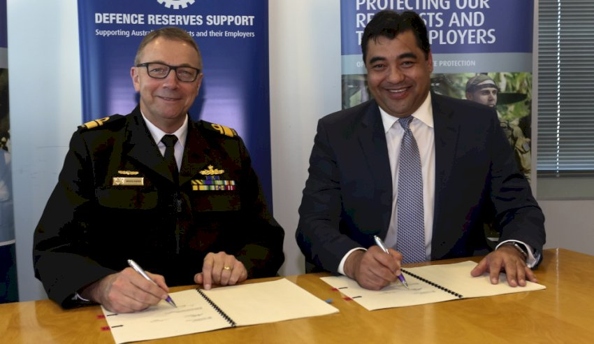 adf signs mou to support reservists